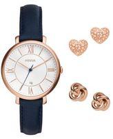 Fossil Jacqueline Watch & Earrings Set
