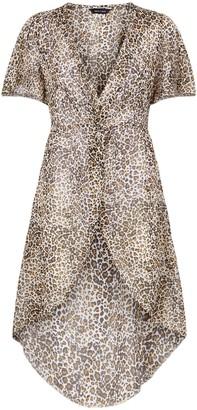 New Look Leopard Print Chiffon Kimono