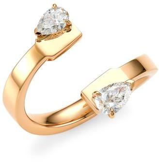 Repossi Serti Sur Vide 18K Rose Gold & White Diamond Ring