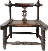 One Kings Lane Vintage Hand-Carved Baule Chair