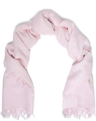 Chan Luu Frayed Sequin-embellished Cashmere And Silk-blend Scarf