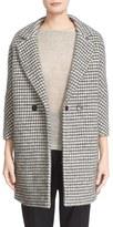 Eleventy Women's Houndstooth Wool Blend Notch Collar Overcoat