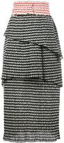 Rosie Assoulin gingham tiered skirt - women - Polyester/Polyamide/Cotton/Spandex/Elastane - 4