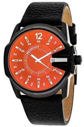 Diesel Men's Master Chief Leather Strap Watch - Black