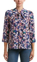Tracy Reese Floral Silk Blouse.