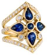 Temple St. Clair 18K Diamond & Sapphire Shield Ring