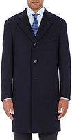 Isaia Men's Cashmere Three-Button Topcoat-NAVY