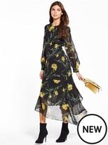 Warehouse Carnation Midi Dress