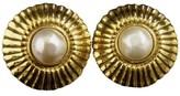 Chanel Gold-Tone Faux Pearls Clip-On Earrings
