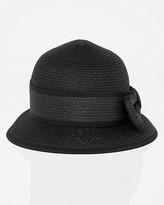 Le Château Two-Tone Woven Cloche Hat