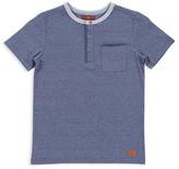 7 For All Mankind Boys' Short-Sleeve Henley Tee - Little Kid