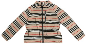 BURBERRY KIDS Mollie Icon Stripe jacket
