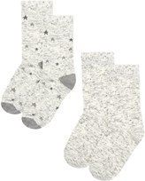 Accessorize 2 Pack Sparkle Star Pattern Socks
