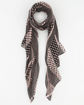 Le Château Dot Print Woven Lightweight Scarf