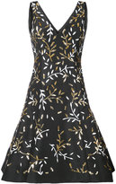 Oscar de la Renta stem embroidered dress