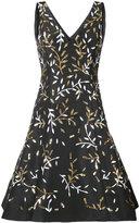 Oscar de la Renta stem embroidered dress