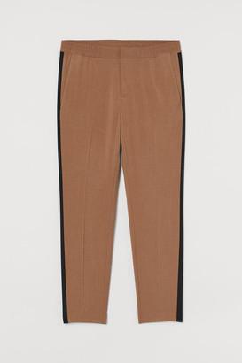 H&M Suit Pants with Side Stripes - Beige