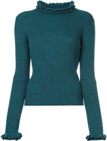 Le Ciel Bleu frill-trim fitted sweater