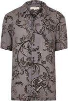 River Island MensGrey floral print shirt