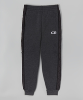 CB Sports Black & Charcoal Sweatpants - Toddler