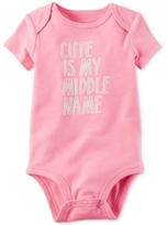 Carter's Cute Is My Middle Name Bodysuit, Baby Girls (0-24 months)