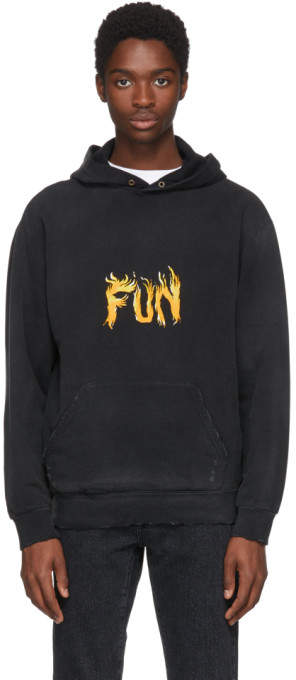 Givenchy Black Fun Washed Hoodie