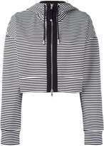 Diesel Black Gold cropped striped hoodie - women - Cotton/Nylon/Spandex/Elastane - M