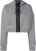Diesel Black Gold cropped striped hoodie - women - Cotton/Nylon/Spandex/Elastane - S