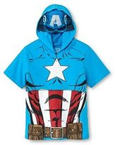 Captain America Toddler Boys Mask T-Shirt - Turquoise