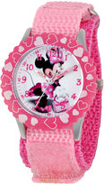 Disney Minnie Mouse Kids Pink Nylon Strap Watch