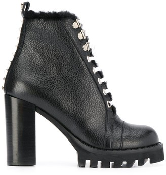Philipp Plein Star Studded Ankle Boots