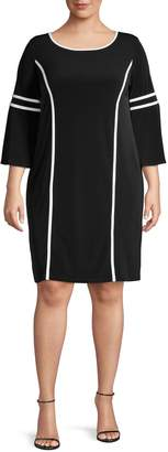Calvin Klein Collection Classic Three-Quarter Sleeve Dress