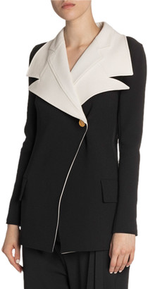 Proenza Schouler Suiting Novelty-Lapel Blazer