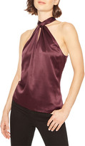 Parker Dallas Twisted Silk Halter Top