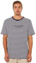rhythm Harry Stripe Mens Tee Blue