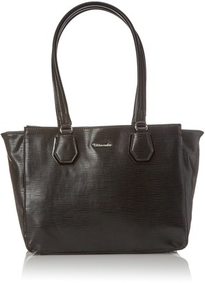 Tamaris Women's Babette Shoulder Bag (black comb) 14x26x46 cm