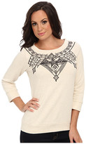 Lucky Brand Black Embroidered Pullover