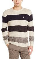 U.S. Polo Assn. Men's Marl All Over Stripe Crew Neck
