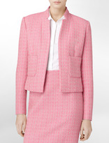 Calvin Klein Contrasting Tweed Suit Jacket