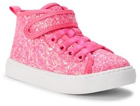 Wonder Nation Athletic Glitter Hi-Top Sneakers (Toddler Girls)
