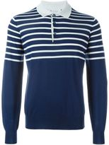 Brunello Cucinelli striped polo sweater