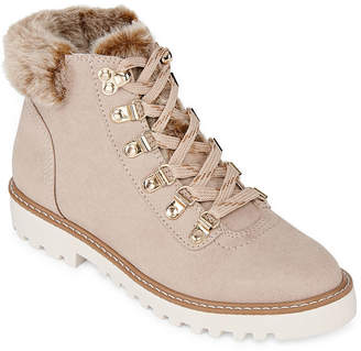 A.N.A Womens Nelson Block Heel Lace-up Booties