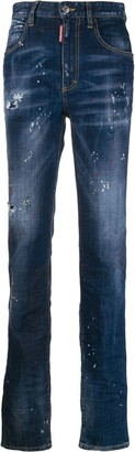 DSQUARED2 distressed straight leg jeans