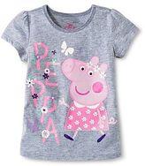 Peppa Pig Toddler Girls' Short Sleeve Tee - Gray