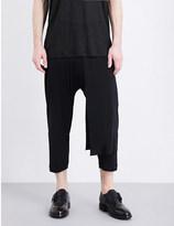 Isabel Benenato Slouchy wool-blend trousers