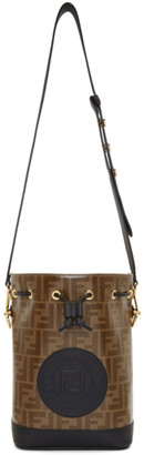 Fendi Black and Brown Small Forever Mon Tresor Bag