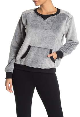 Zella Z By New Davina Faux Fur Pullover