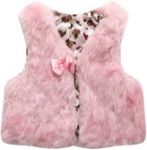 Richie House Girls' Artificial Fur Vest with Bow RH0792-D