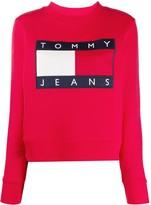 Tommy Jeans flag logo crew-neck sweatshirt