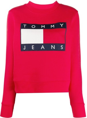 Tommy Jeans Flag Logo Crew-Neck Sweatshirt